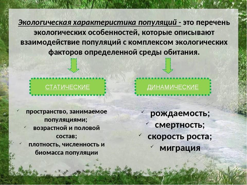Экологическая характеристика